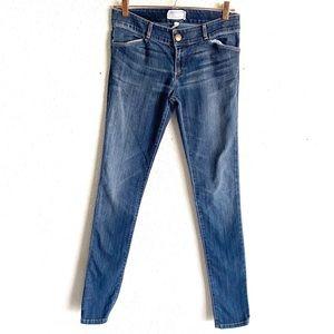 Current/Elliott Distressed Blue Skinny Jeans 27/31